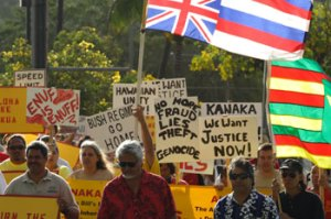 Hawaiian Nationals March on Maui - June 15, 2007