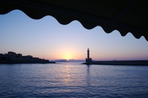 Beautiful Chania Port in Crete