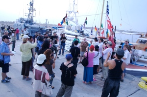 Departing Cyprus for Gaza