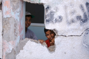 Kids of Gaza in Israeli Bombed House